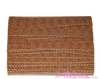 1 m light brown lace embellishment scrapbooking card making *.