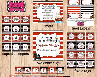 DIY Printable Pirate Party Package