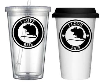 Cup:Rats(4 designs to choose from!)