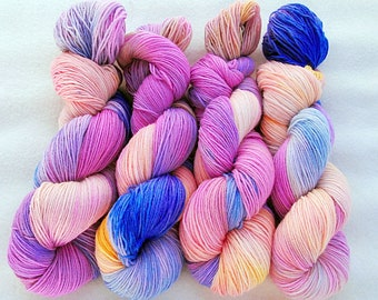 Handdyed SockYarn, 75 Wool, 25 Polyamid 100g 3.5 oz. Nr. 757