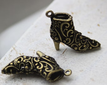 bronze ankle boots