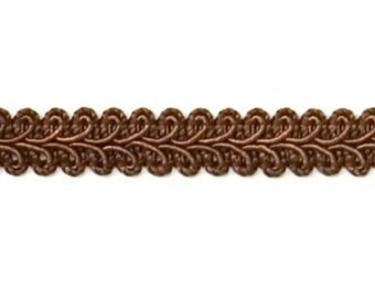 "E1901 Chocolate Brown Gimp Sewing Upholstery Trim 1/2"" (E1901-CHOC)"