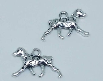 Silver Dog Dalmation Charms