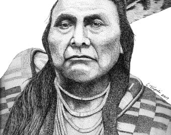 Chief Joseph - 11 x 14 Matted Print