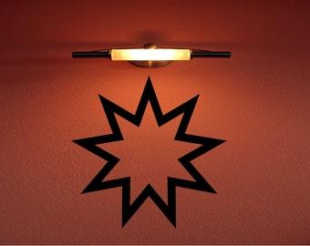Custom Made Bahai Faith Symbol Removable Wall Decor Decal Religion Baha'i Religious Decal Sticker