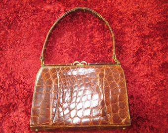 Vintage crocodile handbag.