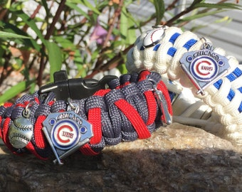 Chicago Cubs Paracord Bracelet,stainless steel buckle