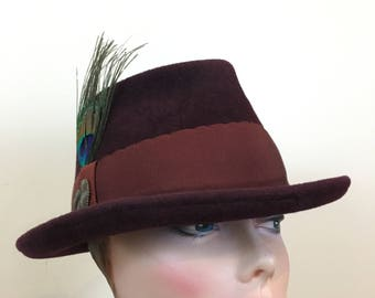 Hand blocked velour felt fedora