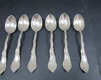 Sterling Silver 6 Demitasse spoon