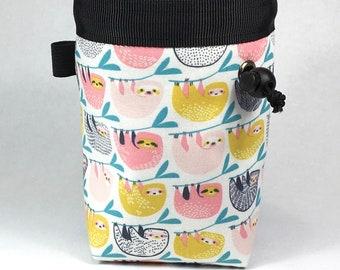 Chalk bag, Sloth, Climbing Chalk Bag, Chalk bag Climbing, Rock Climbing Chalk bag, Chalkbag, Climbing Gear, Sloth Chalk bag, Pink