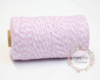 Purple Baker's Twine, Orchid Purple Twine, 4 Ply, 15 Yards, Natural Cotton Twine, Lilac Baker's Twine, Gift Wrapping, Wedding Gift Wrap