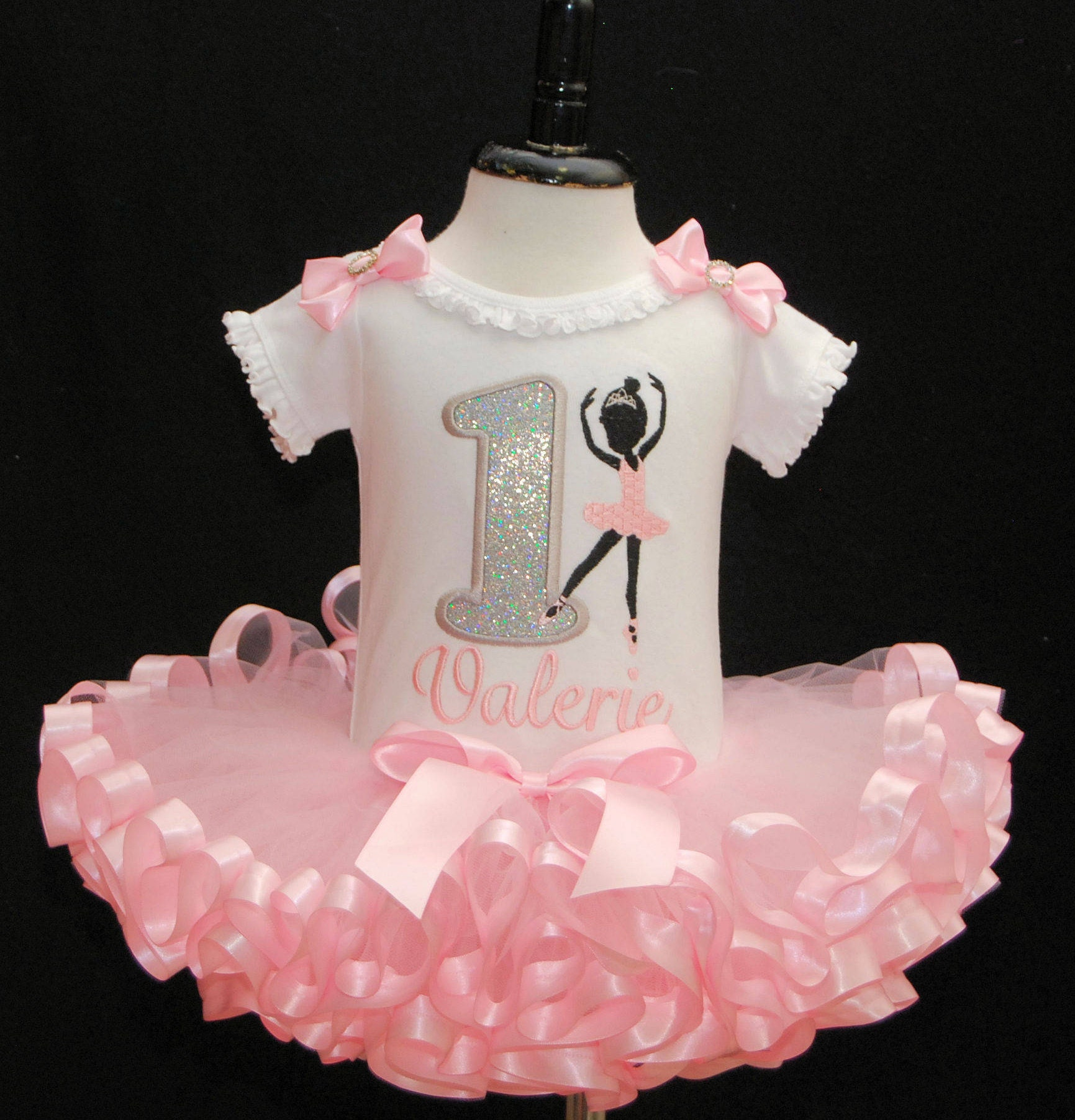 Birthday Tutu Outfits For Baby Girls Ribbon Trim Dress Flower Pink 0 2th 1st Girl Outfit Ballerina