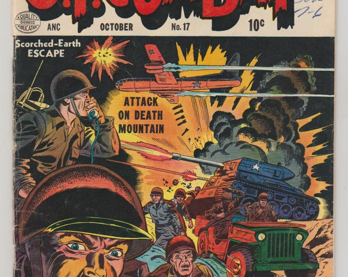 G.I. Combat; Vol 1, 17, Golden Age War Comic. VG (4.0). October 1954. Quality Comics Group (DC Comics)