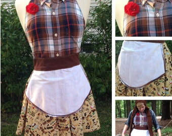 Camping Costume Apron in Brown