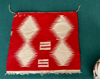 Primitive Native American Indian wall tapestry, unique designs, wool, one of a kind