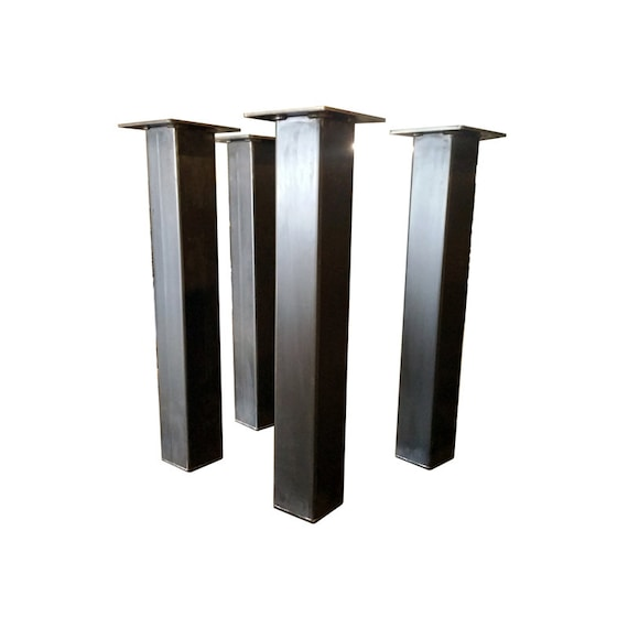 Chunky 4x4 single steel post legs metal legs set of 4 fat like this item watchthetrailerfo