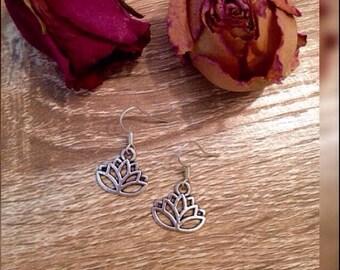 SALE Stainless Lotus Flower Earrings