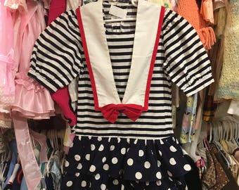 90s Girls Sailor Dress 8/10