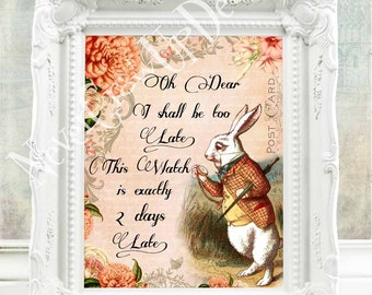 Alice in Wonderland Print Alice in Wonderland Decor Alice in Wonderland Quote Alice in Wonderland Wall Art Mad Hatter Tea Party Alice  119