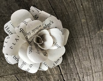 Harry Potter book paper flowers