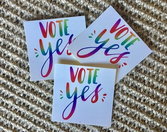 Vote Yes Sticker - Australian Marriage Equality Vinyl Sticker 6cm x 6cm