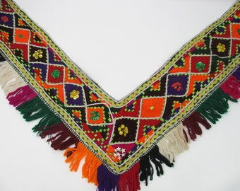 Embroidered Uzbek Saye Gosha Trim