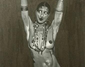 "12"" × 18"" Josephine Baker: the banana dance  by #fc"