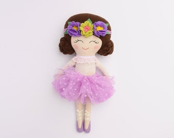 Ballerina, Handmade, Cloth Dolls, Cotton doll, Dolls for girls,textile doll,