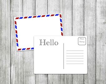 Postcard Template   Digital Postcard, Printable Postcard, EPostcard,  Printable Invitation, Digital Invitation