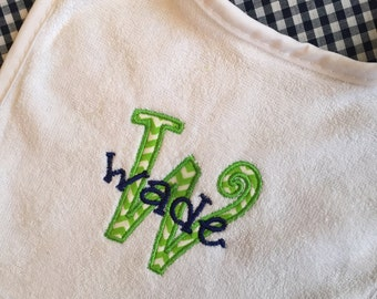 Personalized Initial Applique Bib