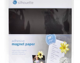 Silhouette America Magnet Paper 4 - 8.5 x 11 Printable Adhesive Sheets