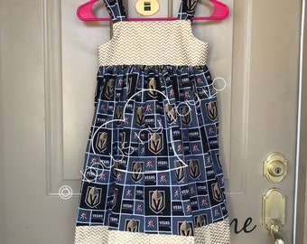 Golden Knights Dress, Romper, Vegas Knights dress, Vegas Knights Romper, Golden Knights Romper, straps adjust to last several years.
