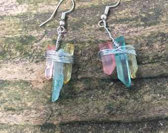 Crystal Cluster Earings