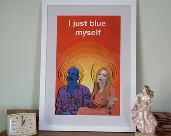 Arrested Development poster, I just blue myself Print, Tobias Fünke and Lindsay Bluth Fünke, paper art print