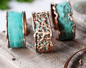 Copper Cuff - Aqua Modern On-Trend