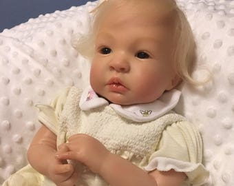 Sweet Reborn Baby Girl Completed, Not a kit- Shyann Sculpt