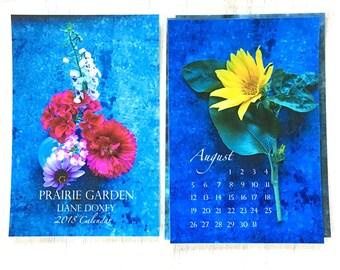 Flower Calendar, 2018 Calendar, 4x6 Desk Calendar, Loose Leaf Calendar 5x7, Floral Photography Calendar, Garden Calendar, Photo Art Calendar