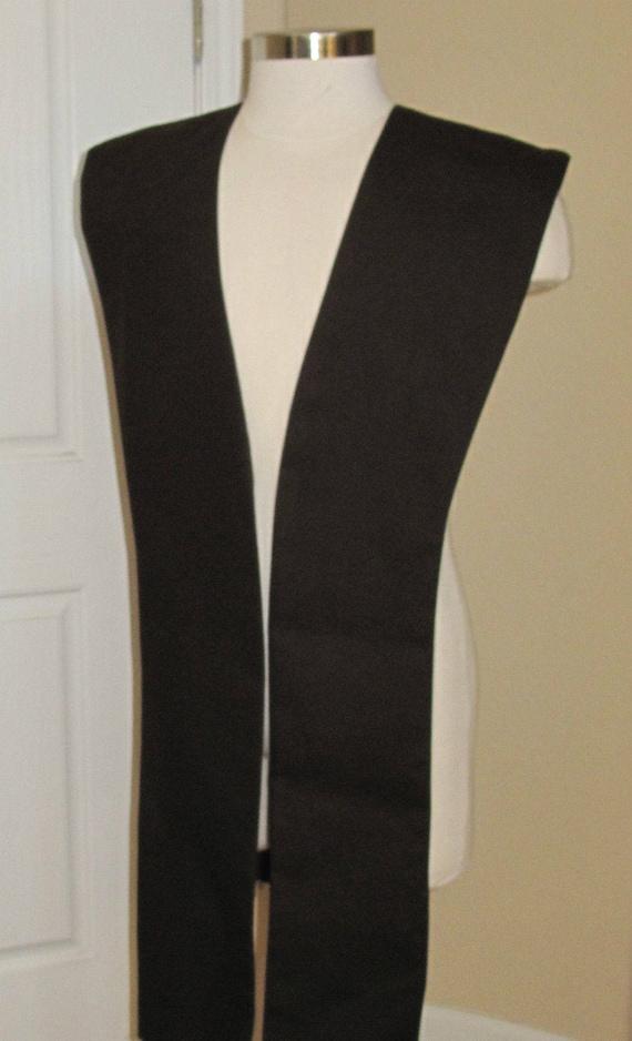 Black poplin fabric tabards no sash in 10 sizes