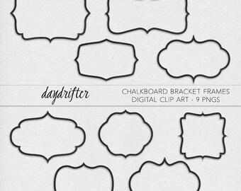 Instant Download Chalkboard Bracket Frames