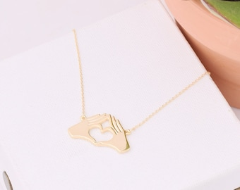 Phi Sigma Sigma Sorority Necklace / TWYK Necklace / Phi Sig Necklace / Phi Sigma Sigma Hand Sign / Sorority Necklace / Sorority Gift