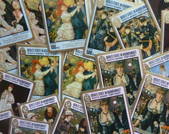 Fine Art Stamps - Manet and Renoir Masterpieces on Stamps