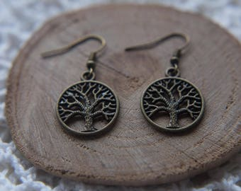 Tree Of Life Bronze Earrings
