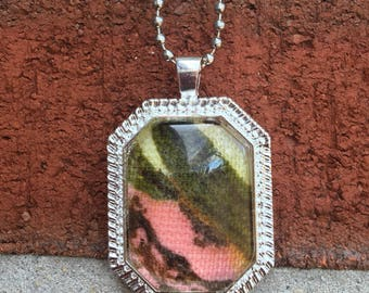 Vintage Fabric Pendant Necklace