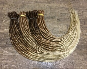 redhead and brown OMBRE to blonde synthetic double or single ended dreadlocks dreads extension mix 2 options 20 inches Basilisk