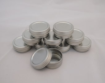 Screw top Tins Half ounce New with shrink bands