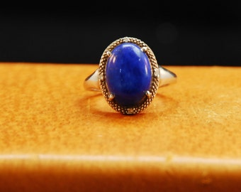 Handcrafted Sterling Silver Lapis Luzuli ring