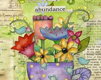 Live in Abundance Big Print