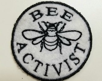 Bee Activist Clothing Patch