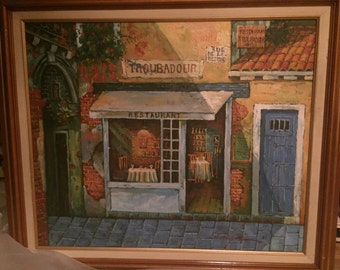 M.Chapot oil on canvas large framed