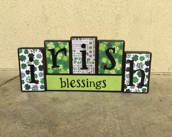 St. Patrick's Day blocks - irish blessings